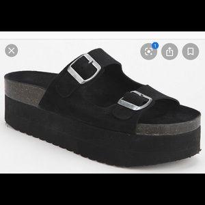 Jeffrey Campbell platform Birkenstock style shoe